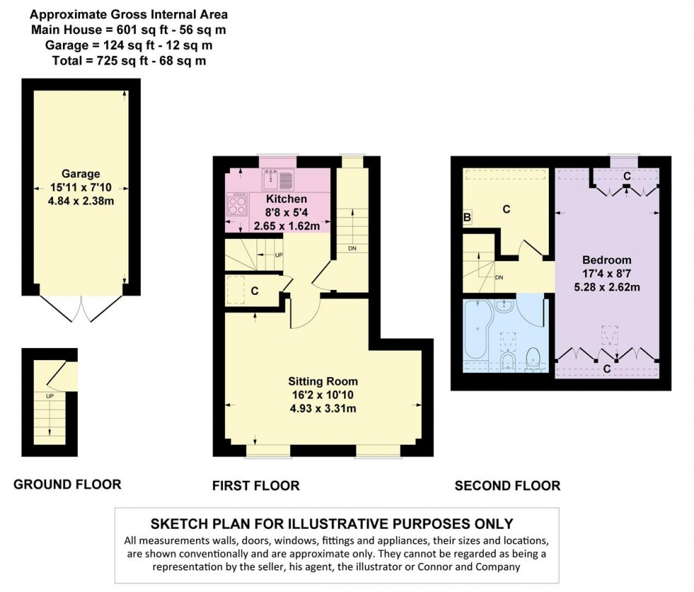 Floorplan for Wolds End Close, Chipping Campden, Gloucestershire