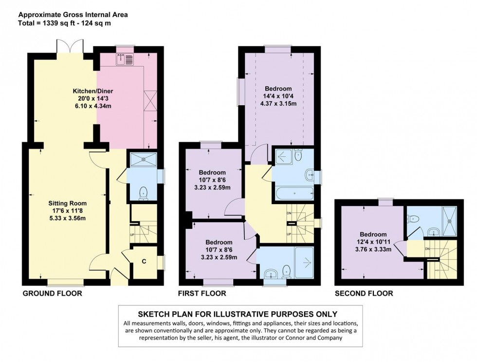 Floorplan for Evenlode Road, Moreton in Marsh, Gloucestershire